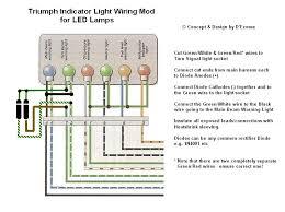 led rear light bulb indicators both flashing triumph forum