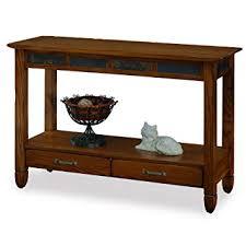 Kitchen Console Table With Storage Slatestone Oak Storage Console Table Rustic Oak