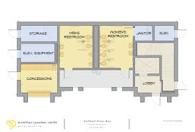 Pepsi Center Floor Plan by Furman Softball Breaks Ground On New Press Box Office Facility
