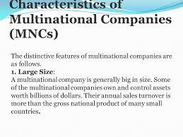 Universities As Multinational Enterprises The Multinational Concept Of Multinational Company Ppt
