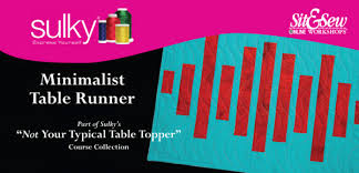 sulky presents not your typical table topper minimalist table runner
