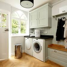kitchen decorating ideas uk pale blue and wood utility room kitchen decorating ideas