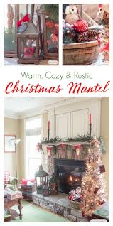cozy fireplace mantel with rustic christmas decor atta rustic