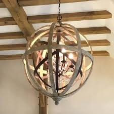 Orb Chandelier Diy Chandeliers Round Wood Candle Chandelier Large Round Wooden Orb