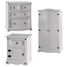 Harden Bedroom Furniture by Coroner Bedroom Furniture Set In White Washed Pine 25979