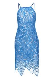 light blue sleeveless dress scoop neck sleeveless backless bodycon lace dress for women in