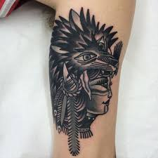 Wolf Indian Tattoos - traditional wolf for your inspiration