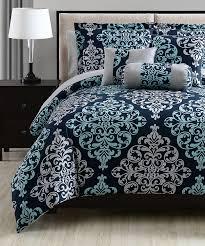 zulily home decor s l home fashions navy u0026 aqua lara comforter set zulily