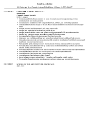 Security Specialist Resume Computer Specialist Resume Resume Objectives 46 Free Sample
