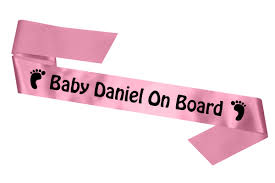 personalised baby shower sash simply sashes