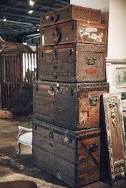beautiful travel trunks a beautiful stack vintage louis vuitton steamer trunks piled high