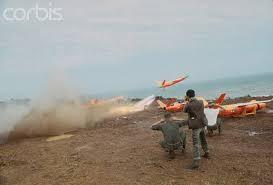 january 1968 us troops test drones at chu lai in vietnam during