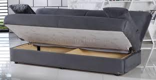 sofa bed storage sofa bed in rainbow dark gray fabric by sunset