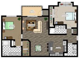 Floor Plan Of An Apartment River House Apartments Floor Plans