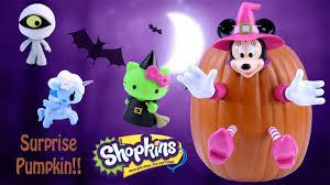 minnie mouse halloween pumpkin surprise toys hello kitty