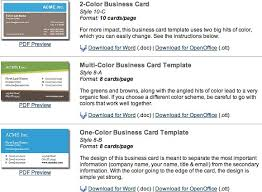 Free Business Card Templates For Word 2010 Useful Free Open Office Templates To Make You More Productive