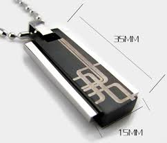 Mens Engraved Necklaces Personalized Engraved Black And Blue Fashion Necklaces For Men