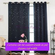 Standard Curtain Length South Africa by Dark Navy Blue Twinkle Star Design Kids Bedroom Door Curtain
