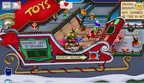 club penguin christmas party 2009 cheats snowman pin santa hat