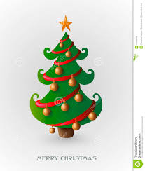 merry tree with gold baubles eps10 file stock vector