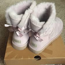 ugg mini bailey bow on sale ugg nib uggs mini bailey bow boots feather size 8 from s