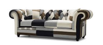 Patchwork Chesterfield - chesterfield fabric sofa ireland conceptstructuresllc