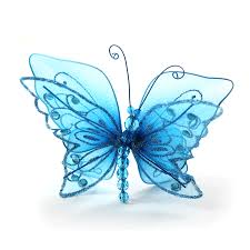 turquoise butterfly wedding decor floral centerpieces ideas