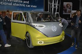 volkswagen i d buzz is an electric mystery machine in detroit