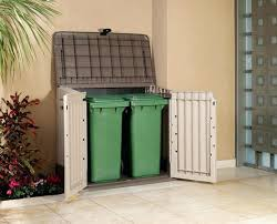 Outdoor Storage Cabinet A Outdoor Storage Shed For My Bbq Grill 10 Finishing Up By Stefang