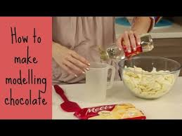 how to make modelling chocolate cake style youtube