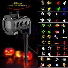 2017 12 slides outdoor moving led laser projector light