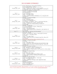 itinerary template microsoft word printable online calendar