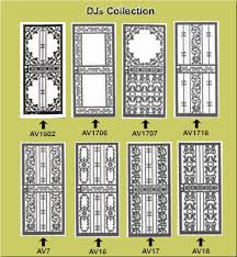 iron security doors door parts wrought ornamental