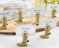 free shipping 200pcs western country cowboy boot place card holders