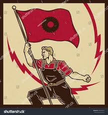 Vintage Flag Art Vintage Propaganda Poster Elements Retro Clip Stock Vector
