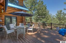 a true log cabin in the woods nevada luxury homes mansions for