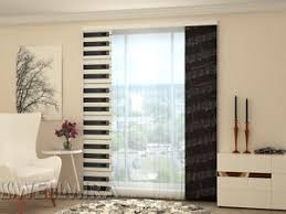 Sliding Panel Curtains Set Of 2 Sliding Panel Curtains By Wellmira Piano Ebay