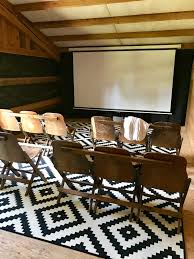 home movie theater chairs little farmstead our barn hayloft home movie theater