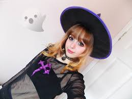 glitter witch costume keikei 케이 cute witch halloween makeup tutorial