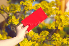 tet envelopes give money in envelopes ang pow or packet to some