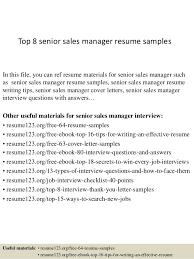 top 8 senior sales manager resume samples 1 638 jpg cb u003d1428675139