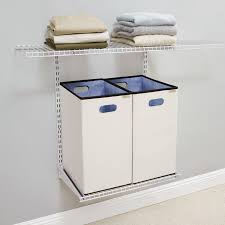 Tips Rubbermaid Closet Kit Lowes Shop Rubbermaid Homefree Series Khaki White Canvas Hamper Kit At