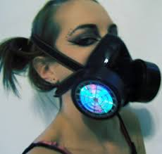 Gas Mask Costume Led Gas Mask Mod Lights Up The Party Walyou
