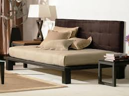 bedroom design dark brown daybed with pop up trundle with beige