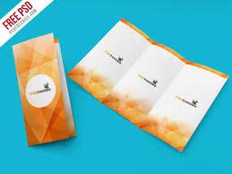 brochure psd template 3 fold free psd tri fold brochure mockup psd template by psd freebies