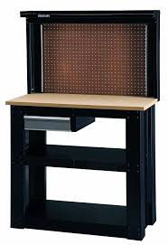 stack on wb 402 steel reloading workbench with back wall outdoor