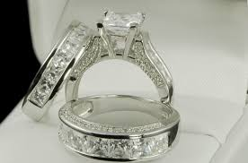 wedding rings sets his and hers his matching engagement wedding ring set sz 5 jewelry