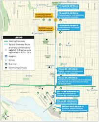 Seattle Neighborhood Map The Network Effect For The 1st Time 2 Neighborhood Greenways In