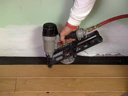 Hardwood Floor Gun How To Install An Engineered Hardwood Floor How Tos Diy