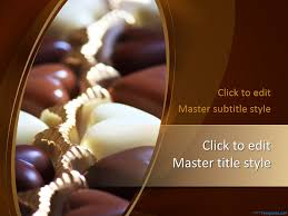 powerpoint templates free download heart free chocolate ppt template is a yummy theme the master slide